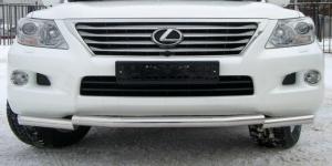Lexus LX 570 защита переднего бампера d76 (ступень) LLZ-000264